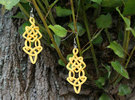 Earring Trefoil in Yellow Strong & Flexible Polished