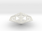 Sierpinski Diamond in White Strong & Flexible
