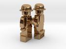 2 x Bowler Cufflinks in Polished Brass