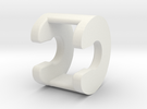 Connection Rod Spacer 2 in White Strong & Flexible