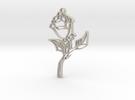 Glass Rose Necklace Pendant in Sandstone