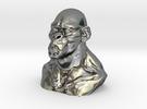 Gorila 6cm in Polished Silver
