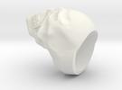 REVAMPED SKULL RING in White Strong & Flexible