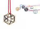 Polyhedral Jewelry: Cuboctahedron in Stainless Steel
