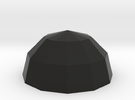 Polyhedral Bowl in Black Strong & Flexible