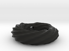 Twirly ring pendant (thick walls) in Black Strong & Flexible