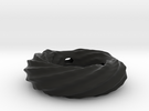 Twirly ring pendant (thinner wall) in Black Strong & Flexible