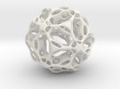 Double Folded Icosahedron in White Strong & Flexible