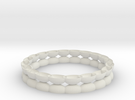 Bracelet 1 stl via netfabb in White Strong & Flexible