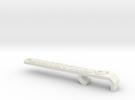 Miata Turbo Keychain - Design B - Raised in White Strong & Flexible