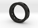 large adult heart ring in Black Strong & Flexible