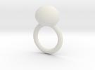 deel 2 ring met worm in White Strong & Flexible