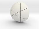 Kugel_4 in White Strong & Flexible