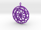 Give Love Get Love moving Pendant in Purple Strong & Flexible Polished