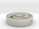 MIJ JM/Jag Roller knob - Groove pattern in Transparent Acrylic