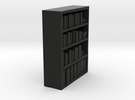 Bookcase for scale 1:72 in Black Strong & Flexible