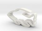 Fish shaped cookie cutter in White Strong & Flexible