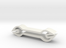 Wrench shaped cookie cutter in White Strong & Flexible