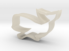 Whale shaped cookie cutter in White Acrylic