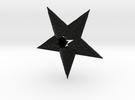 Celtic Star Christmas Ornament in Black Strong & Flexible