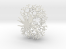 3d Pythagorus Tree in White Strong & Flexible