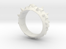 Armor Ring 01 (with the hole which sets the stone) in White Strong & Flexible