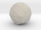 Disdyakis Triacontahedron in Sandstone