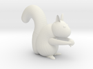 Bloby the squirrel in White Strong & Flexible