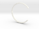 SPIRAL Bracelet Cuff Medium Large in White Strong & Flexible Polished