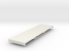 OO9 bogie flat  in White Strong & Flexible