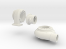 3 piece turbo 1/8 th scale in White Strong & Flexible