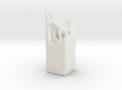 Splash Vase or Candle stand in White Strong & Flexible