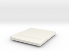 Gameboy Cartridge Top in White Strong & Flexible