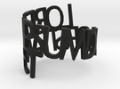 Lorem Ipsum ring in Black Strong & Flexible