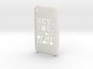 'Cloud' iPhone 3GS Cover in White Strong & Flexible