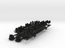 Plan U n-schaal (1:160) bodems met stoelen in Black Strong & Flexible