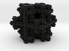 Koch Snowflake sponge in Black Strong & Flexible