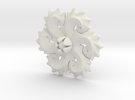 Vignola Doric Order Flower Ornament in White Strong & Flexible