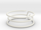 Prong Ring (repaired) in White Strong & Flexible