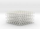 Hexagonal Diamond lattice in White Strong & Flexible