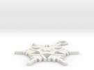 Snowflake Earring Geni in White Strong & Flexible