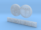 Steyr Puch Pinzgauer Logo 1:10 Scale thin in Frosted Ultra Detail