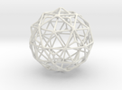 Nested Icosahedron in Dodecahedron in Icosidodecah in White Strong & Flexible