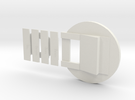 Fluebasev3-plusmp-nogreen (Standard mouth) in White Strong & Flexible