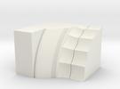 Parthenon Column Capital Slice 1:50 in White Strong & Flexible