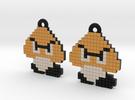 8-bitGoomba in Full Color Sandstone