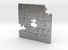 Puzzle Pendant #1 in Raw Silver
