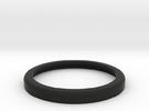 30mm Rolled Shoulder base, no insides in Black Strong & Flexible