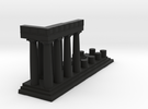 1:150 Parthenon East Facade Sectioned cut in Black Strong & Flexible