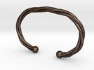 Torque celtique simple in Matte Bronze Steel